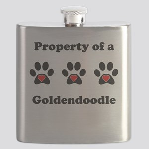 Property Of A Goldendoodle Flask