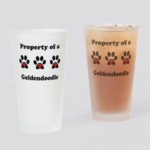 Property Of A Goldendoodle Drinking Glass