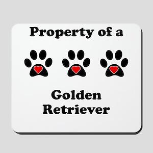 Property Of A Golden Retriever Mousepad