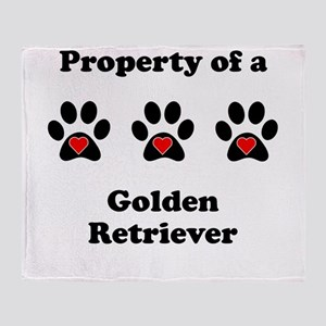 Property Of A Golden Retriever Throw Blanket