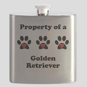 Property Of A Golden Retriever Flask
