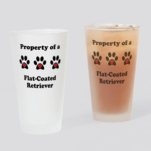 Property Of A Flat-Coated Retriever Drinking Glass