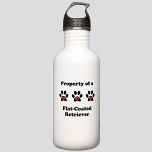 Property Of A Flat-Coated Retriever Water Bottle