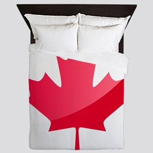 Canada, Flag, Canadian, Maple Leaf Queen Duvet