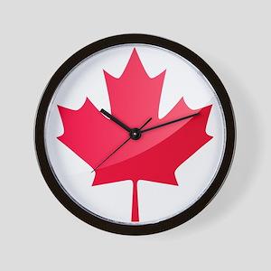 Canada, Flag, Canadian, Maple Leaf Wall Clock