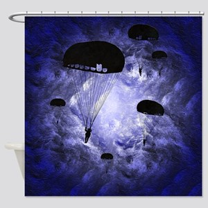Harvest Moons Paratroopers Shower Curtain