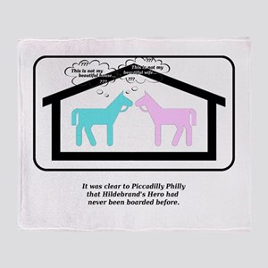 This is not my beautiful house horse Throw Blanket