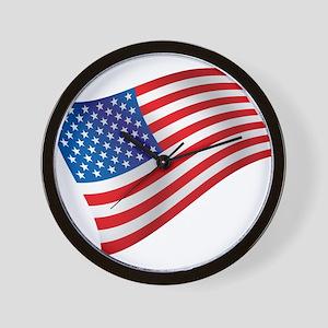USA, America, Flag, Patriotic Wall Clock