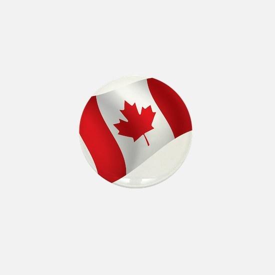 Canada, Flag, Canadian, Maple Leaf Mini Button