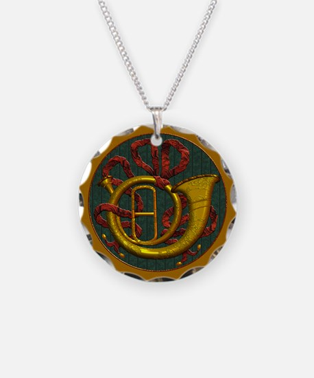 Harvest Moons French Horn Necklace