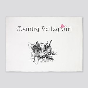 Country Valley Girl 5'x7'Area Rug