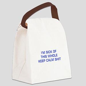 IM-SICK-OF-KEEP-CALM-EURO-BLUE Canvas Lunch Bag