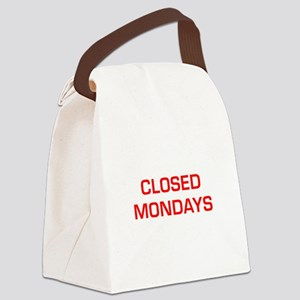 CLOSED-MONDAYS-EURO-RED Canvas Lunch Bag