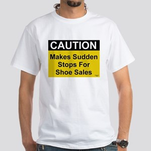 Sudden Stops For Shoes White T-Shirt