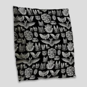 Vintage Bat Illustrations Burlap Throw Pillow
