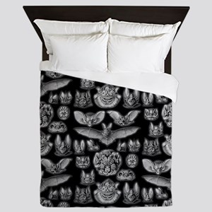 Vintage Bat Illustrations Queen Duvet