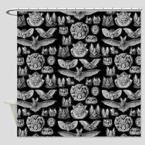 Vintage Bat Illustrations Shower Curtain