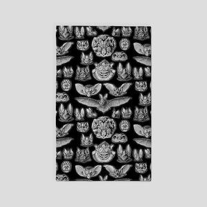 Vintage Bat Illustrations 3'x5' Area Rug
