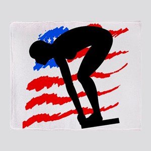 USA SWIMMER Throw Blanket