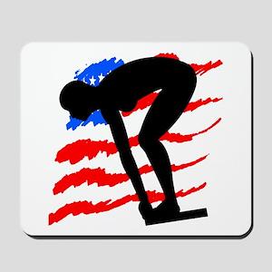USA SWIMMER Mousepad