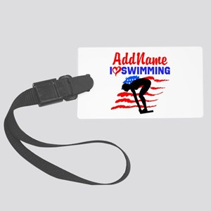 SWIMMER GIRL Large Luggage Tag