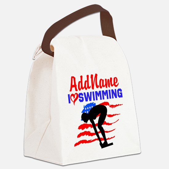 SWIMMER GIRL Canvas Lunch Bag
