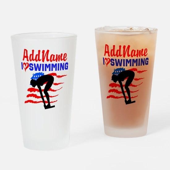 SWIMMER GIRL Drinking Glass