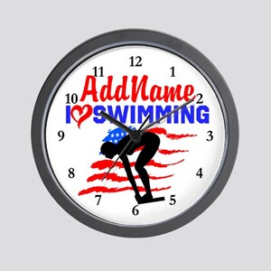 SWIMMER GIRL Wall Clock