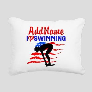 SWIMMER GIRL Rectangular Canvas Pillow