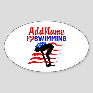 SWIMMER GIRL Sticker (Oval)
