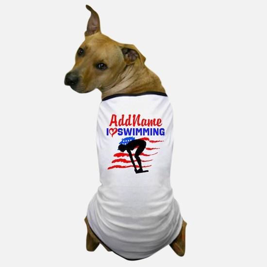 SWIMMER GIRL Dog T-Shirt