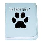 got Boston Terrier? baby blanket