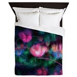 Fairy Flowers Queen Duvet