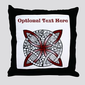 Personalizable Maroon Decorative Celtic Knot Throw