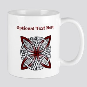 Personalizable Maroon Decorative Celtic Knot Mugs