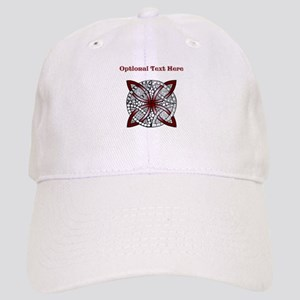 Personalizable Maroon Decorative Celtic Knot Cap