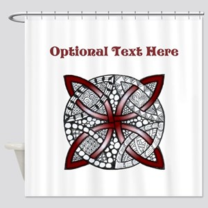 Customized Red Celtic Knot Shower Curtain