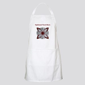 Personalizable Maroon Decorative Celtic Knot Apron