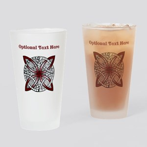 Personalizable Maroon Decorative Celtic Knot Drink