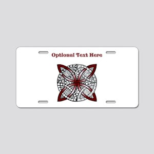 Personalizable Maroon Decorative Celtic Knot Alumi