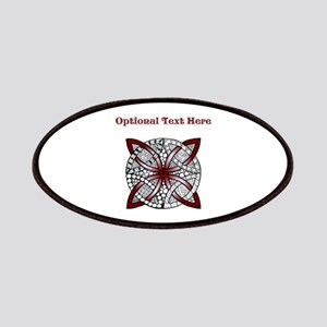 Personalizable Maroon Decorative Celtic Knot Patch