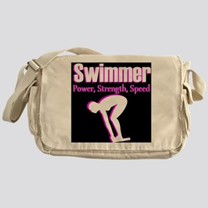 AWESOME SWIMMER Messenger Bag