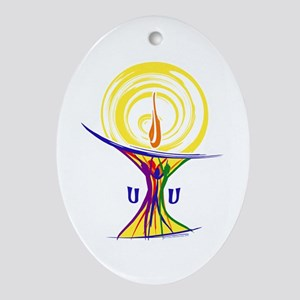 UU Unity Chalice Ornament (Oval)