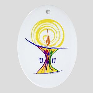 UU Unity Chalice Ornament (Oval)