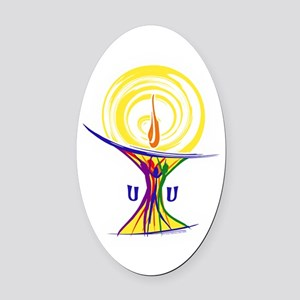 UU Unity Chalice Oval Car Magnet