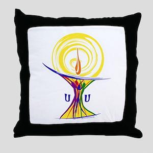 UU Unity Chalice Throw Pillow