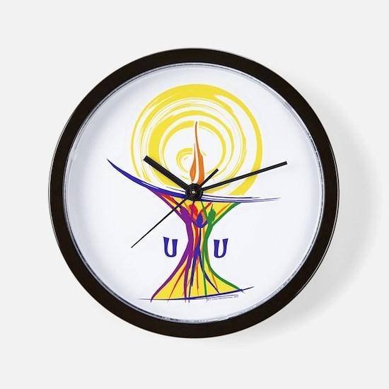 UU Unity Chalice Wall Clock