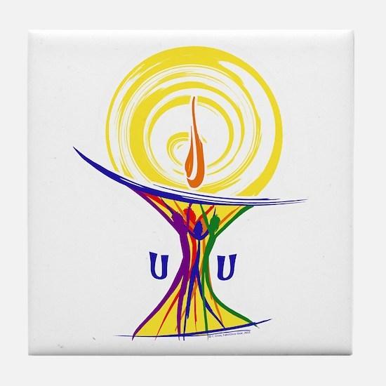 UU Unity Chalice Tile Coaster