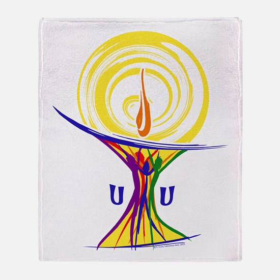 UU Unity Chalice Throw Blanket