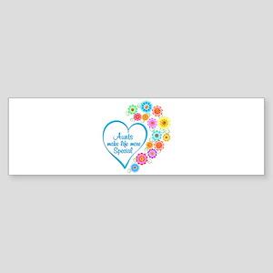 Aunt Special Heart Bumper Sticker